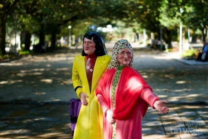 Las dos Marías en el Parque de la Alameda de Santiago de Compostela