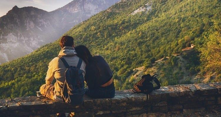 Landscape couple