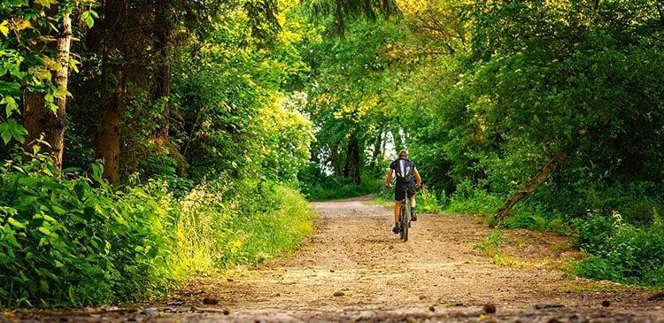 Camino en bici solo