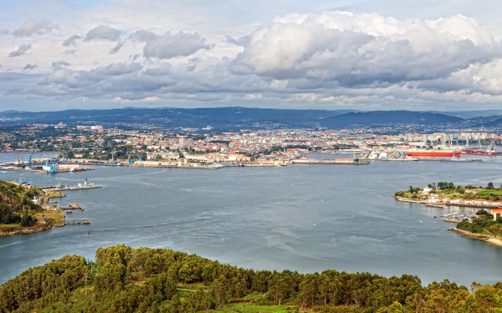vista aérea de Ferrol